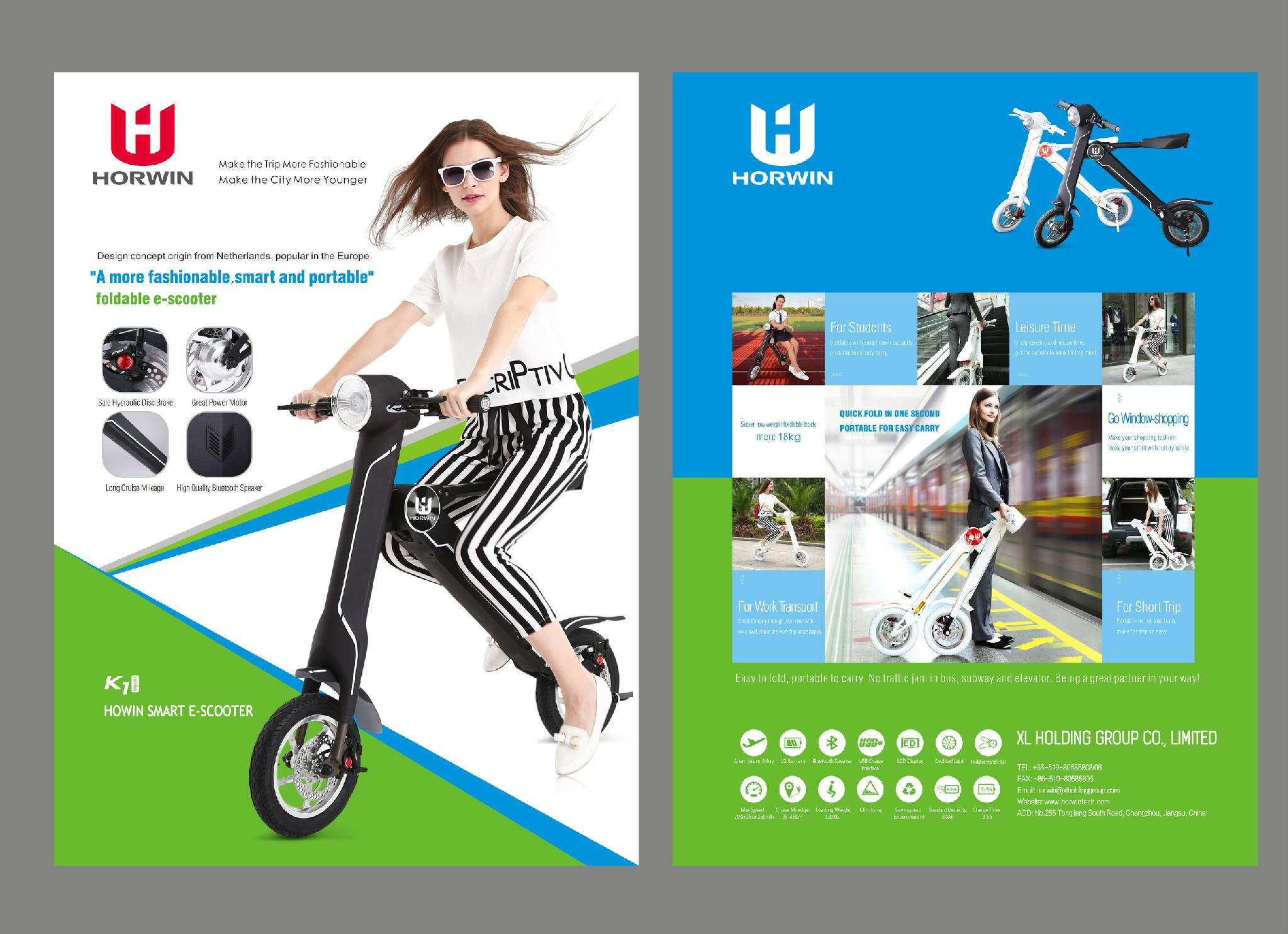 Chinese Foldable Electric Scooter Electric folding bike K1 18kg just for you 1