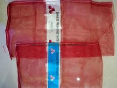 红色板栗网眼袋