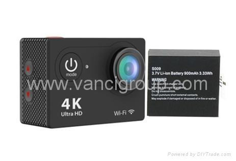 FHD 1080P WIFI Action Cameras 32GB Memory SD Card Li-ion Battery 1