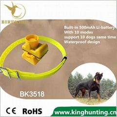 500mAh li-battery Dog Beeper Pet Training Hunting dog collar by birdking factory