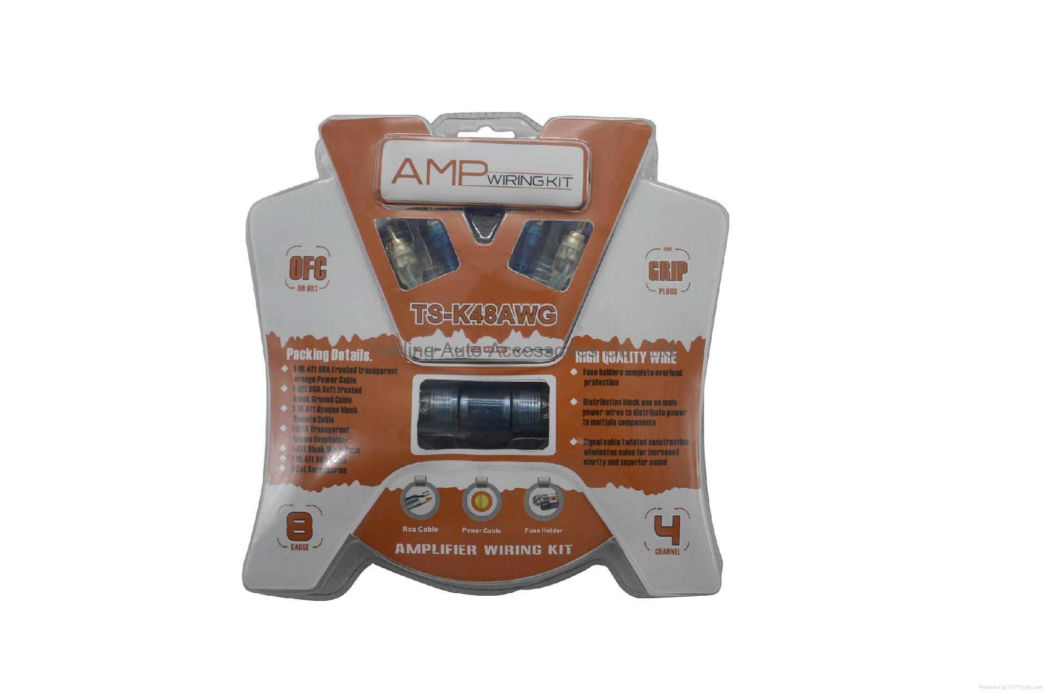 Factory High Quality Car Amplifier Installation 8ga Wiring Kits  1