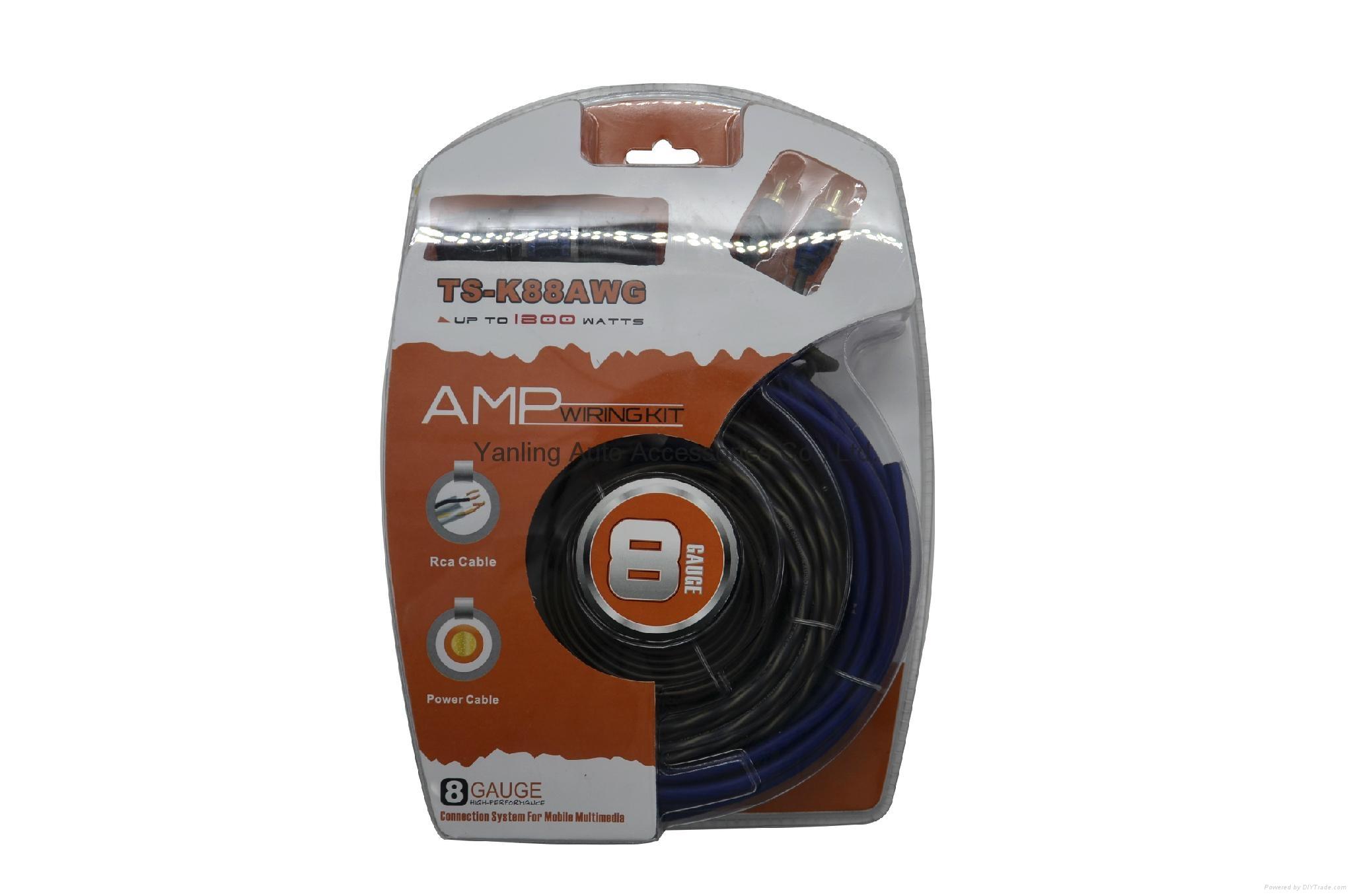 Factory High Quality Car Amplifier Installation 8ga Wiring Kits (AMP-005) 1
