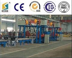 Horizontal h beam manufacturing line