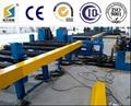 Horizontal h beam assembly machine