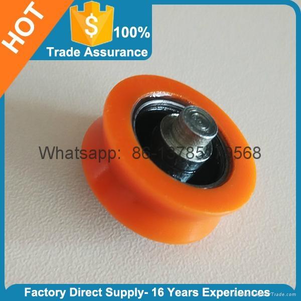 Orange Plastic Door Roller Window Roller V Groove 1