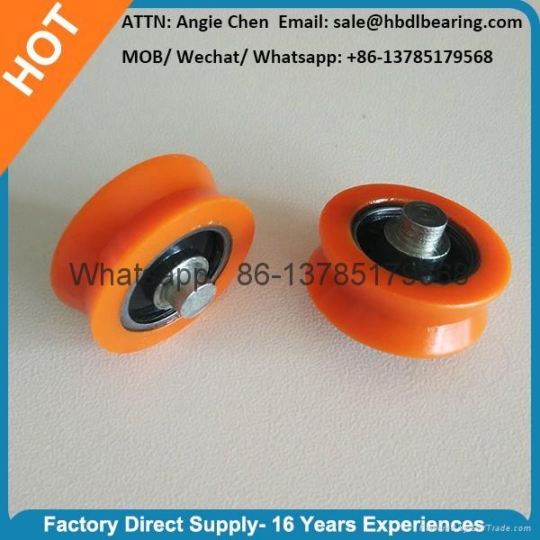 Orange Plastic Door Roller Window Roller V Groove 2