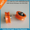Orange Plastic Door Roller Window Roller V Groove 3
