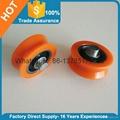 Orange Plastic Door Roller Window Roller V Groove 4
