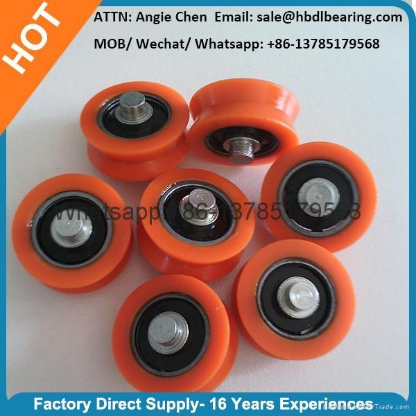 Orange Plastic Door Roller Window Roller V Groove 5