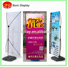 60*160CM Adjustable Height Plastic Water BaseX Bnanner Stand Display Advertising