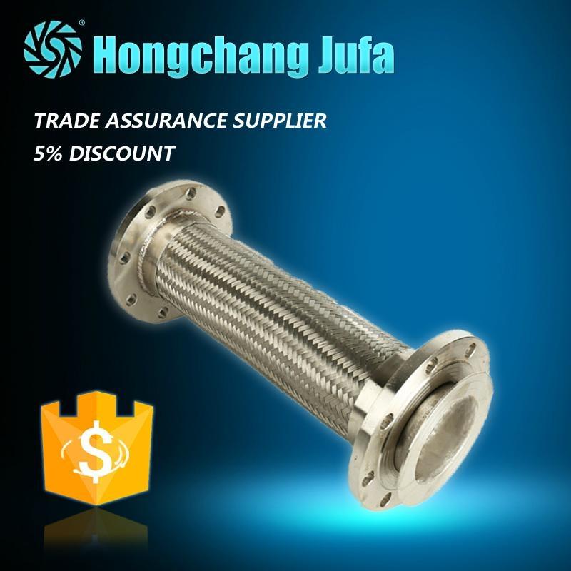 Heat-resisting flange braided stainless steel corrugated pipe metal flexible hos 1