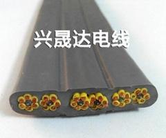 興晟達廠家直銷36芯0.75平方耐磨抗拉扁電纜