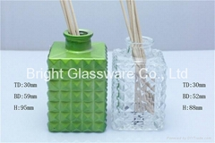 Spared Color Square Glass Bottle Reed Diffuser
