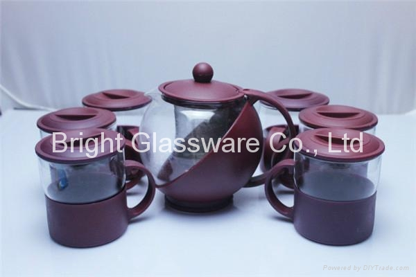 Hot-selling glass water jug with lid for restaurant or hotel 3