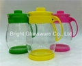 Hot-selling glass water jug with lid for restaurant or hotel 1