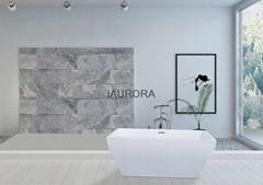 Rectangular European style soking hot bathtub, free standing bath tub