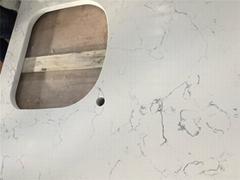Carrara White Veined Quartz Stone Surfaces Countertops