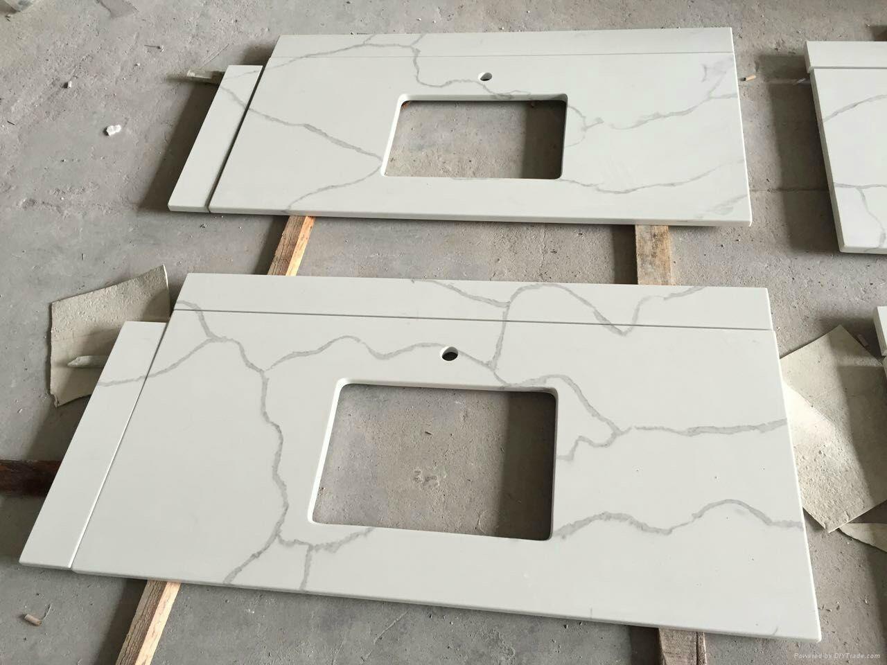Carrara White Marble Like Quartz Countertops 2
