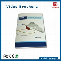 paper craft 4.3 inch lcd video brochure card