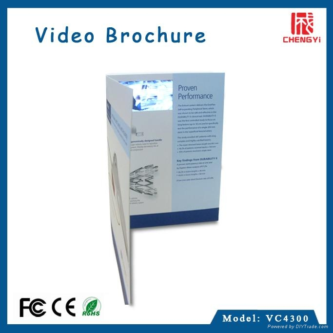 paper craft 4.3 inch lcd video brochure card  2