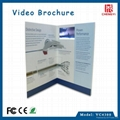 paper craft 4.3 inch lcd video brochure card  4