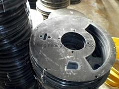 Shotcrete machine rubber sheet