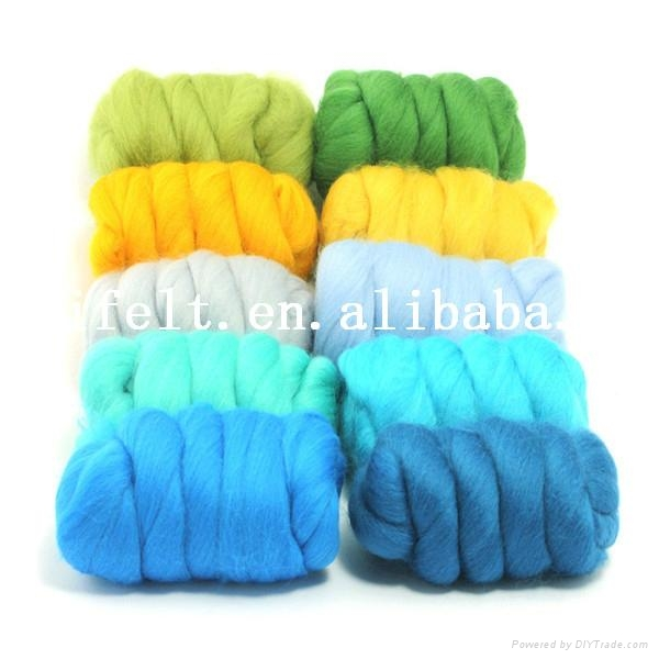Quality Wool Tops for Hand Dyeing and Spinning 1