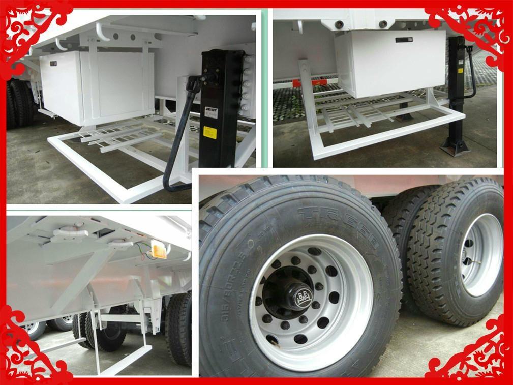Cheapest price Tri-axle  box semi trailer for sale  3