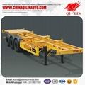 45ft Tri-axle skeleton trailer with