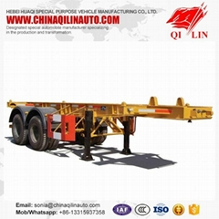 QILIN 2 axle 40ft skeleton container