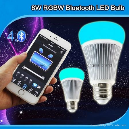 futlight LED Music control Bulb Wireless Bluetooth RGB+CCT 8w color changhe LED  4