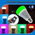 futlight LED Music control Bulb Wireless Bluetooth RGB+CCT 8w color changhe LED  5