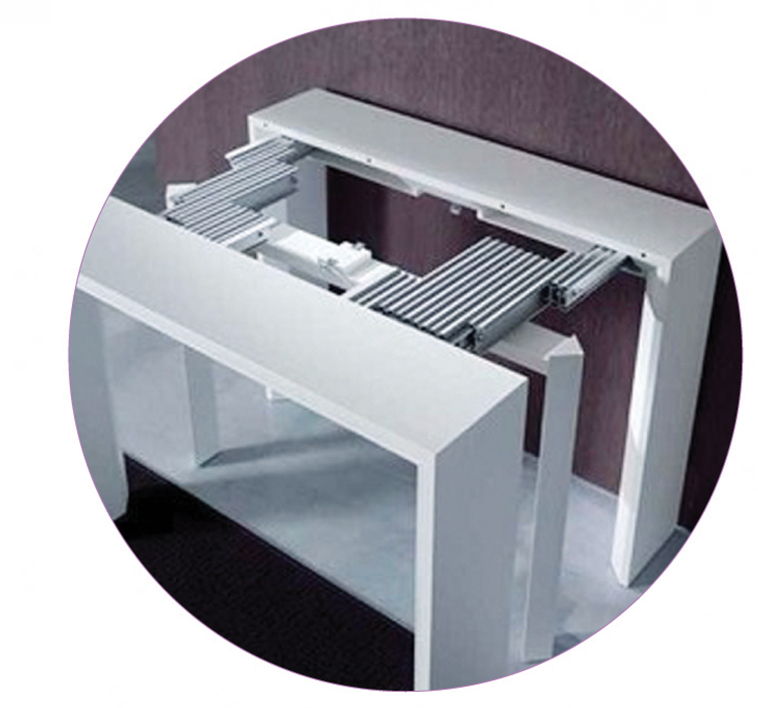 multi sections extention table slide  1