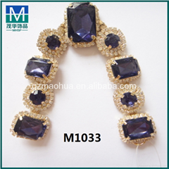 China wholesale fashion rhinestone accessories for slipper shoe decoration