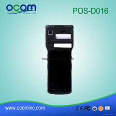 2016 new portable android industrial pda data colection terminal with printer