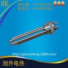東莞廠家CE認証供水箱加熱304不鏽鋼法蘭頭電熱管