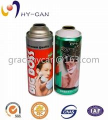 Shaving foam refillable aerosol spray can