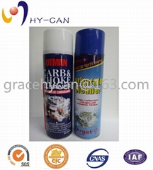 Aerosol can Spray can Tin can for car cleaner empty aerosol /spray paint cans