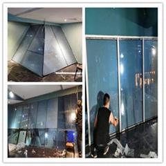 湛江KTV歌廳玻璃投影膜施工
