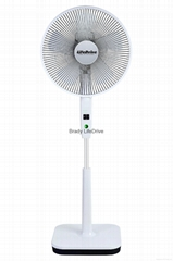 Newest Brady Oscillating DC BrushlesStand Fan with Renote Control and power bank