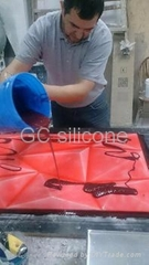 condensation silicone rubber rtv 2 mold making for high density polyethylene cra