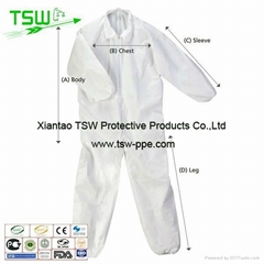 PP Disposable coverall with boot and hood