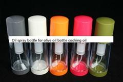 BBQ using plastic oil sprayer