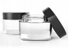 2014 new design 15g/20g/30g/50g aluminum cream jar with gold