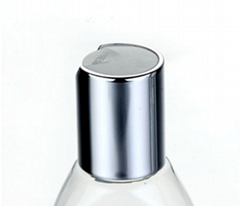 20410 silver disc top screw cap for lotion bottle and lotion dispenser