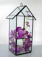 wholesale hanging geometric glass terrarium flower in greenhouse box