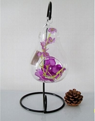wholesale Pear shape hanging glass vases for home decoration