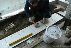 Tile joint filling for interior and exterior wall
