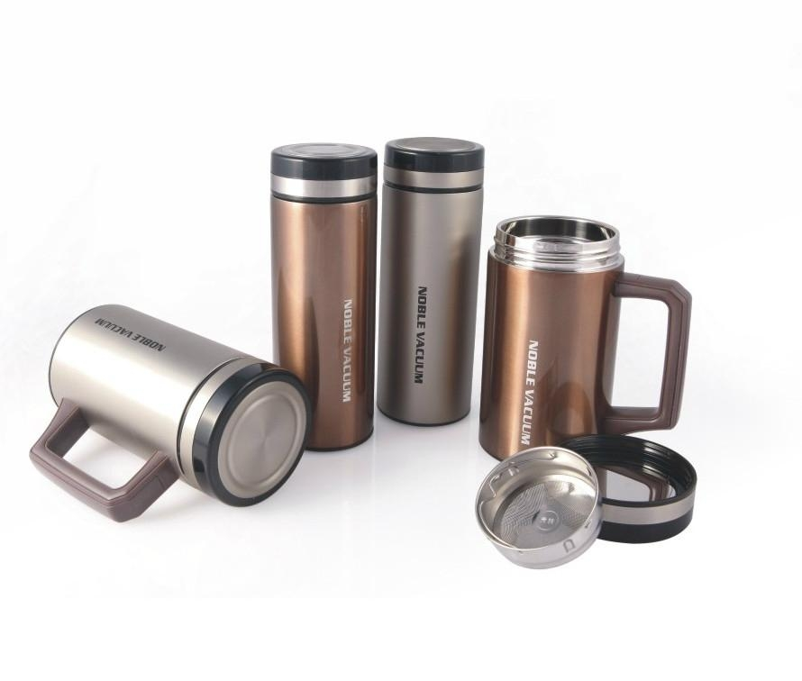 Double wall stainless steel vacuum flask thermal mug cup BLUESKY-1 1