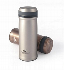 Double wall stainless steel vacuum flask thermal mug cup BLUESKY-2